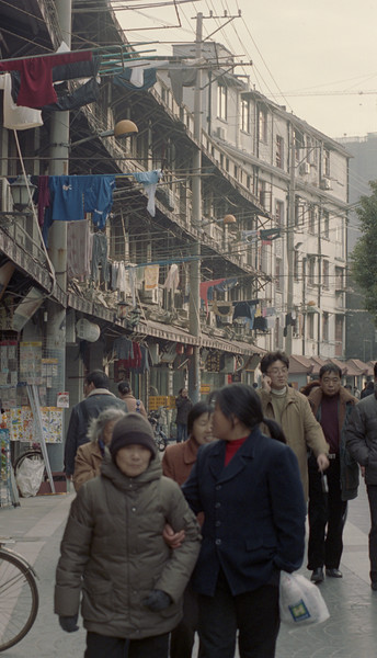 residential district, street scene, Shanghai, china, 2005