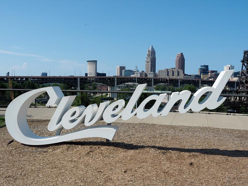 Tremont Cleveland script sign