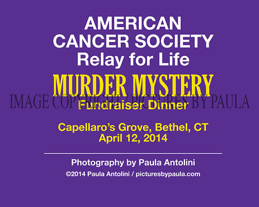 AMERICAN CANCER SOCIETY Relay for Life MURDER MYSTERY DINNER Fundraiser ~ Bethel, CT ~ April 12, 2014