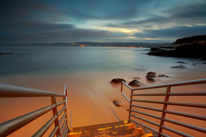 A long exposure before sunrise brought out the joy of first light on La Jolla Cove just after a winter storm had passed through. Other images I made just after this show a different side of this place!