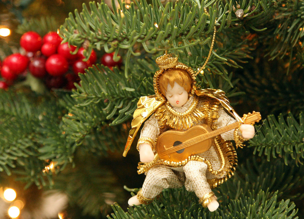 . A German ornament with a wax head hangs on the Christmas tree in the foyer of Gladys Young\'s Danville, Calif., home on Wednesday, Nov. 28, 2012. She decorates many of the rooms with a variety of themes. (Jim Stevens/Staff)