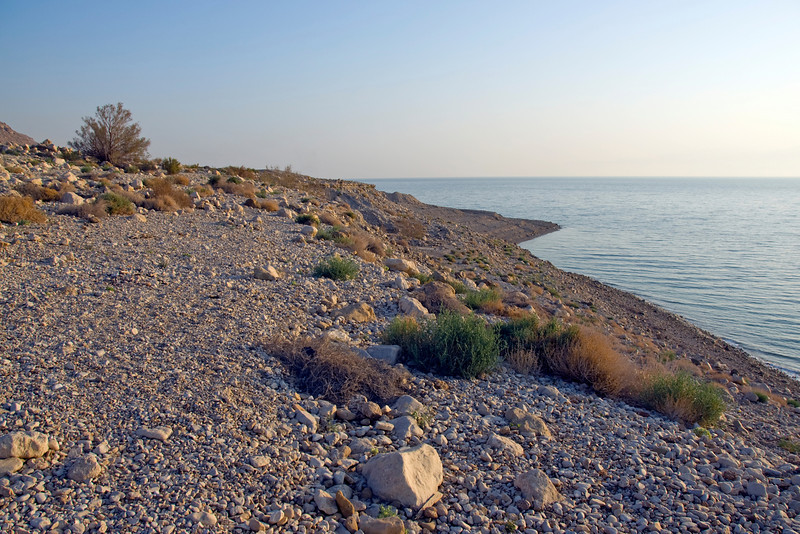 View of the Dead Sea shoreline in Israel