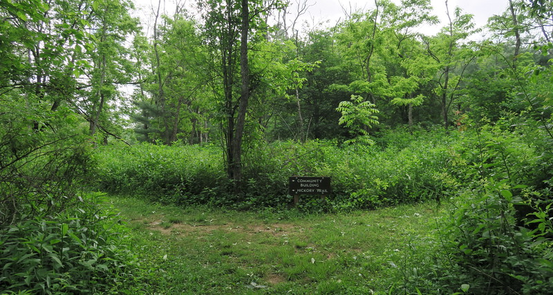 Hickory Trail-Community Building Spur Junction