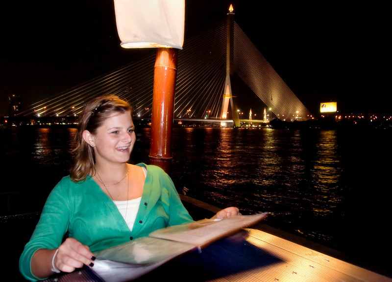 """Dining by the river at """"In Love"""" Restaurant"""