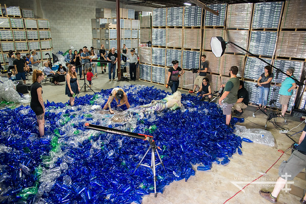 Behind the Scenes of 10,000 plastic bottles and a mermaid