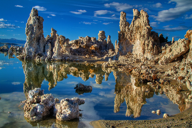 Reflections of Tufas on Mono Lake