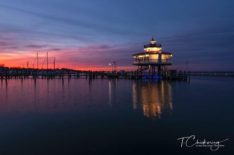 Choptank River Lighthouse Sunset.jpg