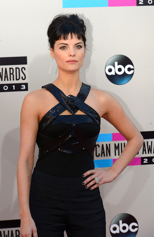 . Jaimie Alexander arrives to the American Music Awards  at the Nokia Theatre in Los Angeles, California on Sunday November 24, 2013 (Photo by Andy Holzman / Los Angeles Daily News)