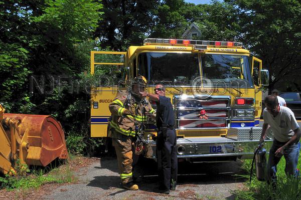 ROXBURY, NJ TRUCK FIRE HILLSIDE AVE & ROUTE 10 JULY 7, 2009