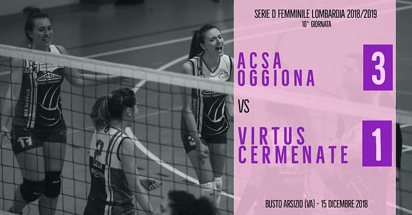 LOM-Df: 10^ ACSA Oggiona - Virtus Cermenate