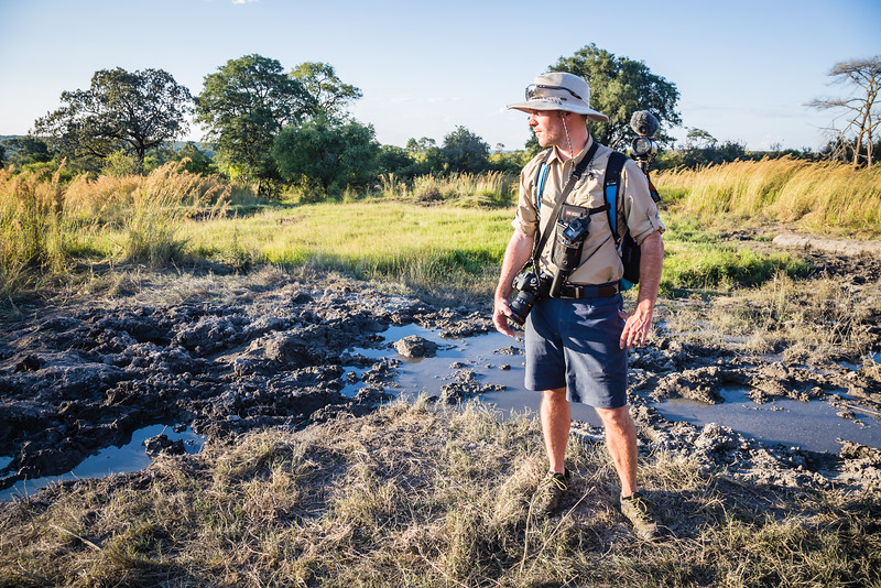 David Stock on safari in Zimbabwe - Best Safari Shirt