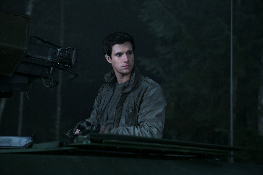 . Hal Mason (Drew Roy) the eldest of the Mason boys prepares for the unknown on a night mission. Photo Credit: James Dittiger