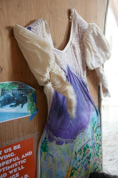 Painted maternal dress