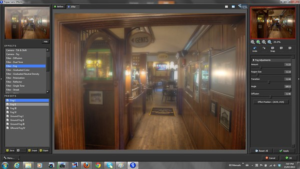Lens Effects Fog - Topaz Labs Lens Effects Review