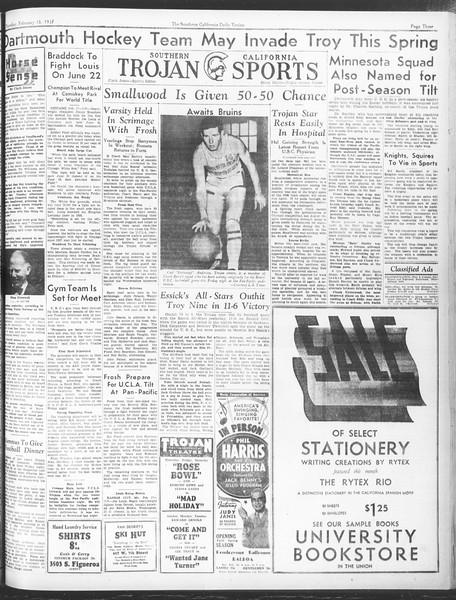 Daily Trojan, Vol. 28, No. 82, February 18, 1937