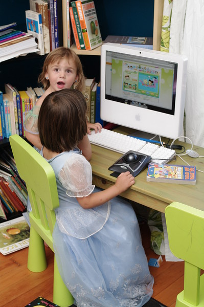 Anya didn't know computers had <i>cartoons</i>.