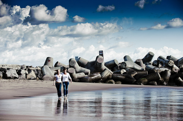 Sharon and Lauren Campbell (Family Photography, Seabright Beach, Santa Cruz, California)