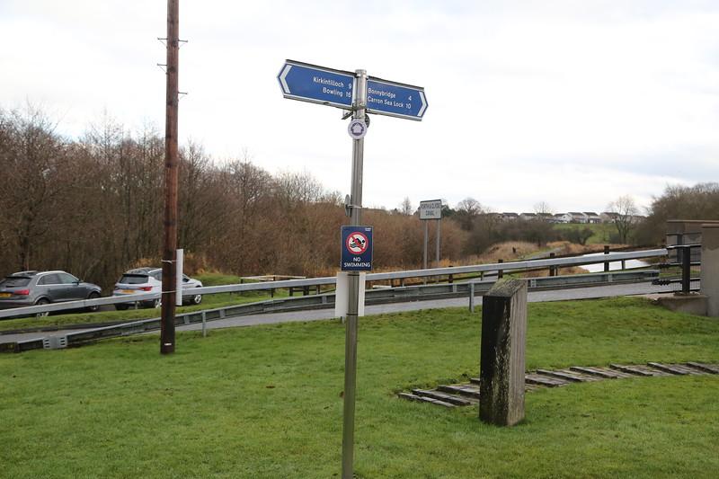 Lock 20 looking east at Banknock