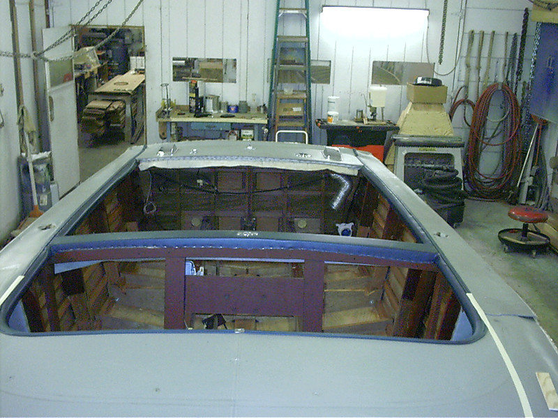 Inside view looking towards the transom.