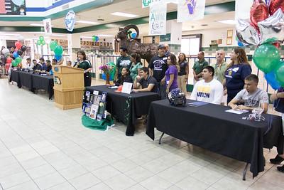Montwood High School Signing Carlos Quintana, Andrew Perez, Andrew Castro, Jonathon Arrieta, Timothy Franklin, Noah Gamboa, Roman Rudy Alvarado, Annika Aguirre