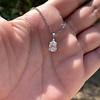 1.11ct Pear Shape Diamond Pendant GIA E VVS2 7