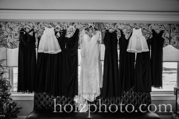 Kristen & Robert B/W Wedding Photos