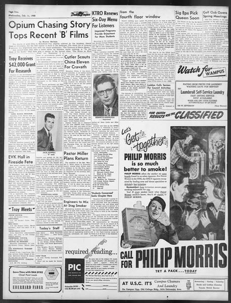Daily Trojan, Vol. 39, No. 76, February 11, 1948