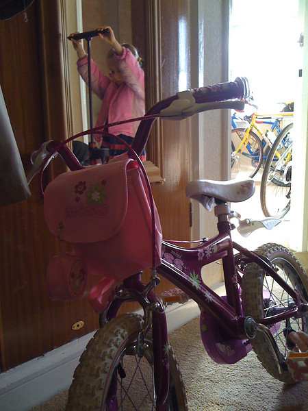 Pumping up the pink rider