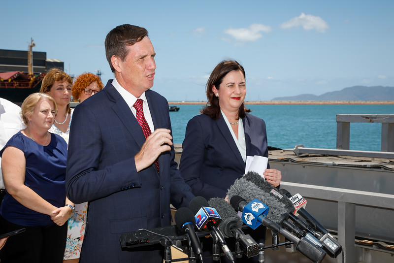 06 December 2016 - Townsville, Qld - Adani Carmichael coal mine announcement in Townsville.  Queensland minister Dr. Anthony Lynam during a media conference - Photo: Cameron Laird (Ph: 0418 238811 - cameron@cameronlaird.com)