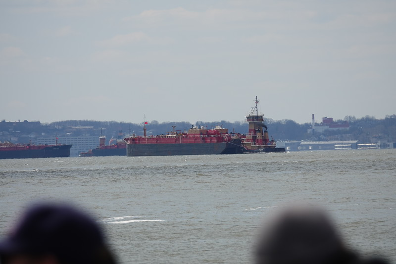 Oil tankers on the Upper Bay, from Battery Park.