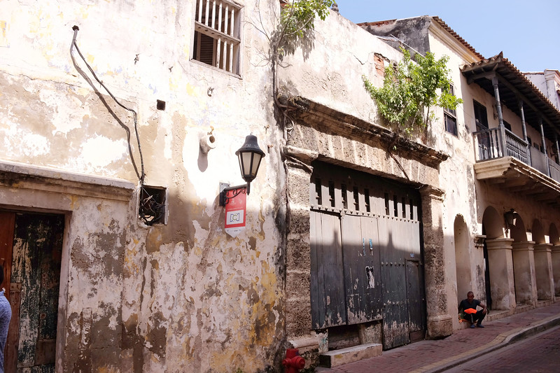 Many buildings were weathered, but the town was spotlessly clean.