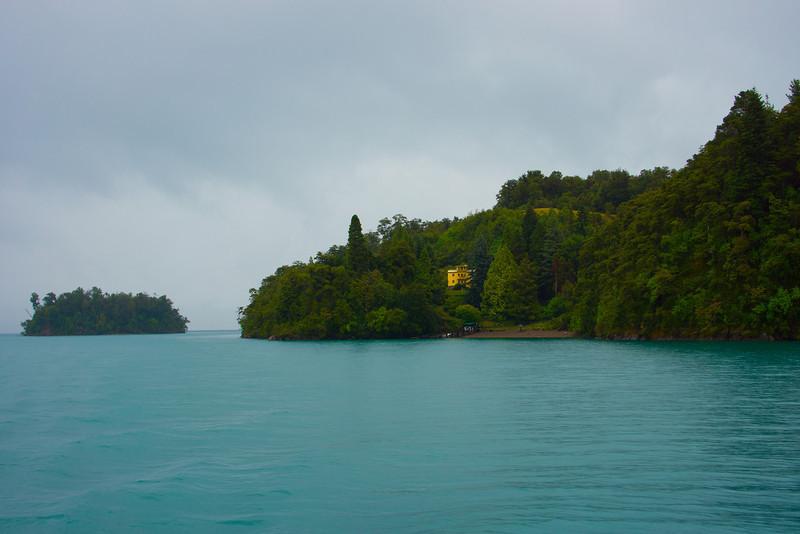 Residence at the shore of Lake Todos los Santos, Patagonia, Chile