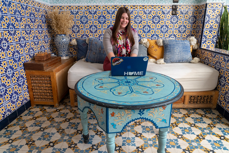 Working at a riad in Morocco