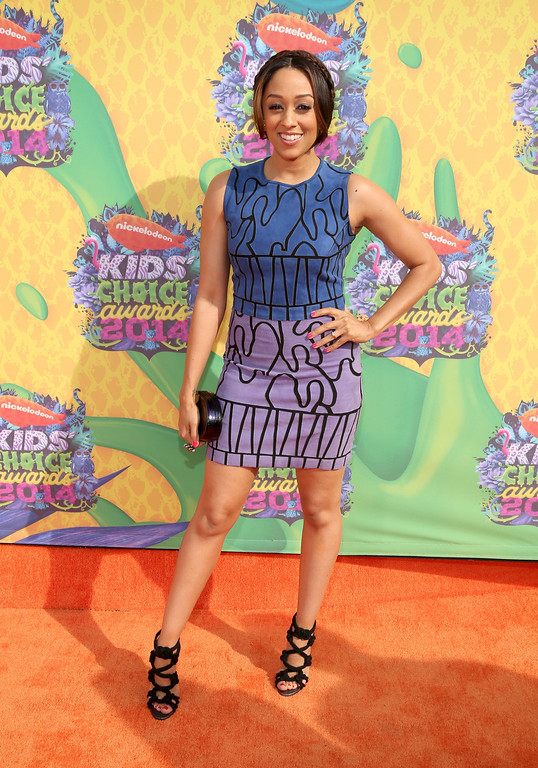 . Actress Tia Mowry-Hardrict attends Nickelodeon\'s 27th Annual Kids\' Choice Awards held at USC Galen Center on March 29, 2014 in Los Angeles, California.  (Photo by Mark Davis/Getty Images)