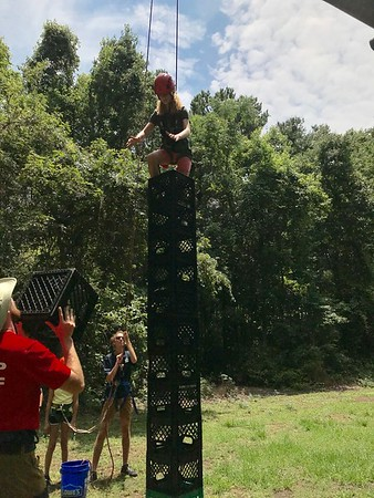 Rappelling & Crate Climbs