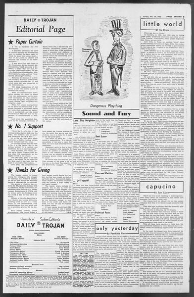 Daily Trojan, Vol. 54, No. 40, November 20, 1962