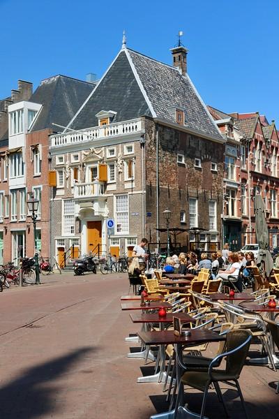Cafes along Grote Markt - Haarlem