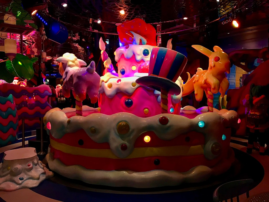 The Sweets-Go-Round at Kawaii Monster Cafe.