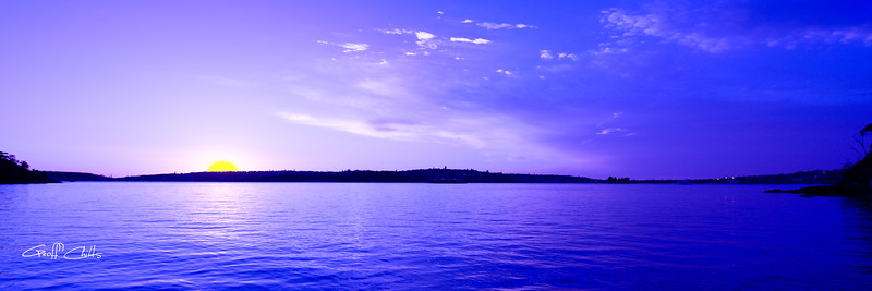 True Blue Sunrise. Art photo digital download and wallpaper screensaver. DIY Print.
