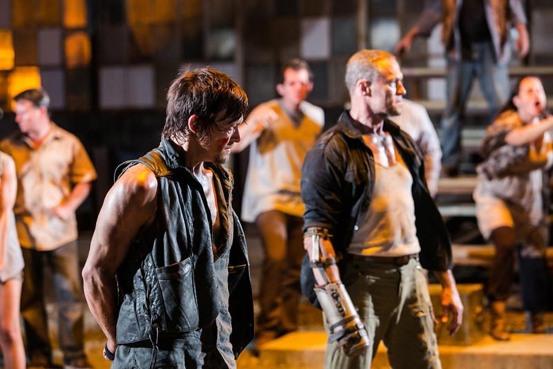 . Daryl Dixon (Norman Reedus) and Merle Dixon (Michael Rooker) - The Walking Dead - Season 3, Episode 9 - Photo Credit: Tina Rowden/AMC