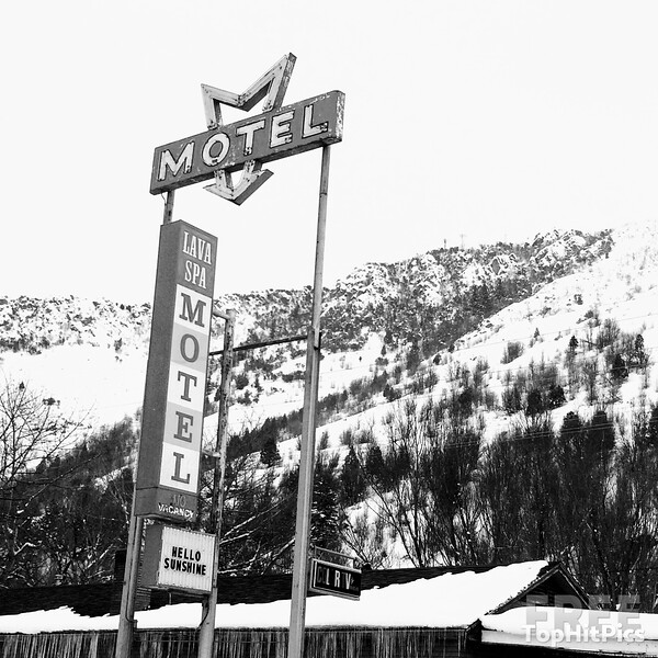 The Lava Spa Motel & RV Park Retro Sign in Lava Hot Springs, Idaho