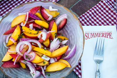 Peach & Quick Pickled Onion Salad