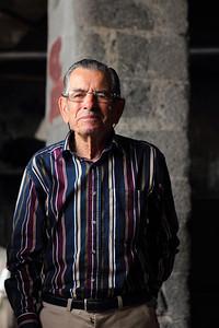 "Alberto ""Pe'leve"" Macedo Brum (São Roque do Pico, Pico), born 1929, pictured in the whaling factory of São Roque. August 9, 2012."