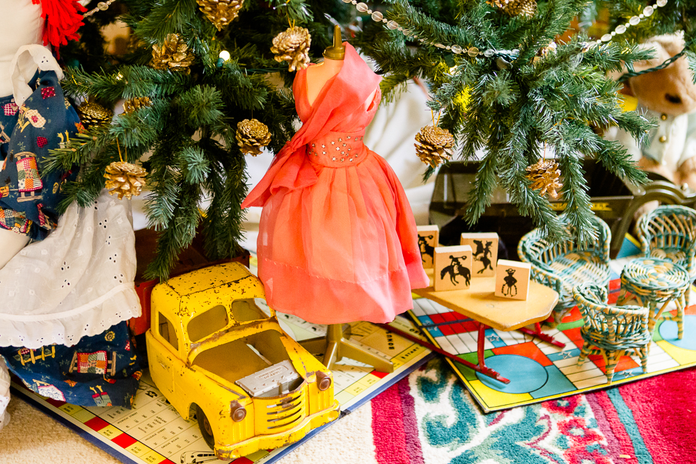 . Barbie would feel right at home among the miniature toys under this tree at the Governor\'s mansion. Photo by Mark Broste