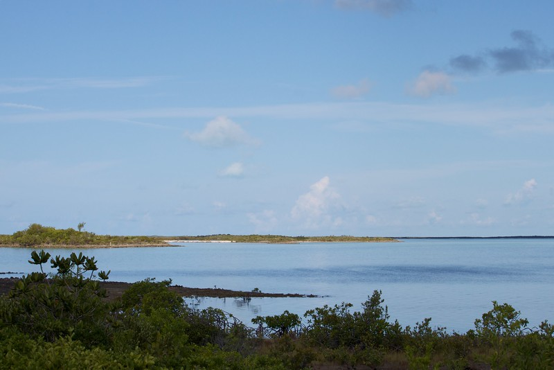 Looking out from the west side of the cay