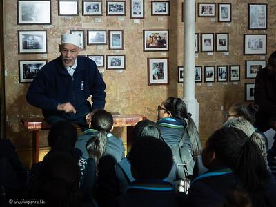 Mohd Noor Ebrahim with school children