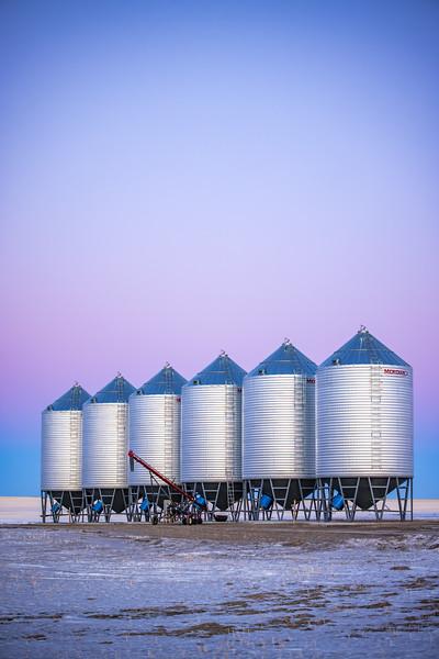 Pastel Grain Elevators