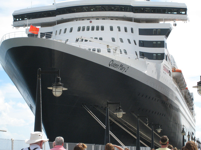 The Queen Mary at St. Kitts.