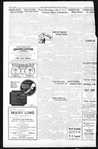 Daily Trojan, Vol. 16, No. 106, May 15, 1925