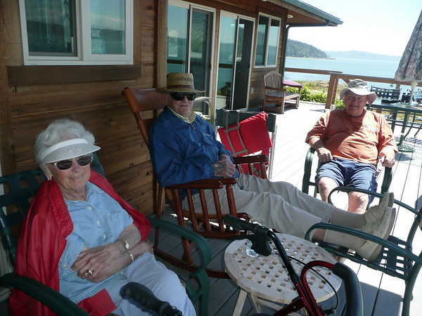 John & Ad visiting the cabin in July